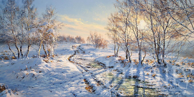 Sunlight on the Snow, Froggatt Edge