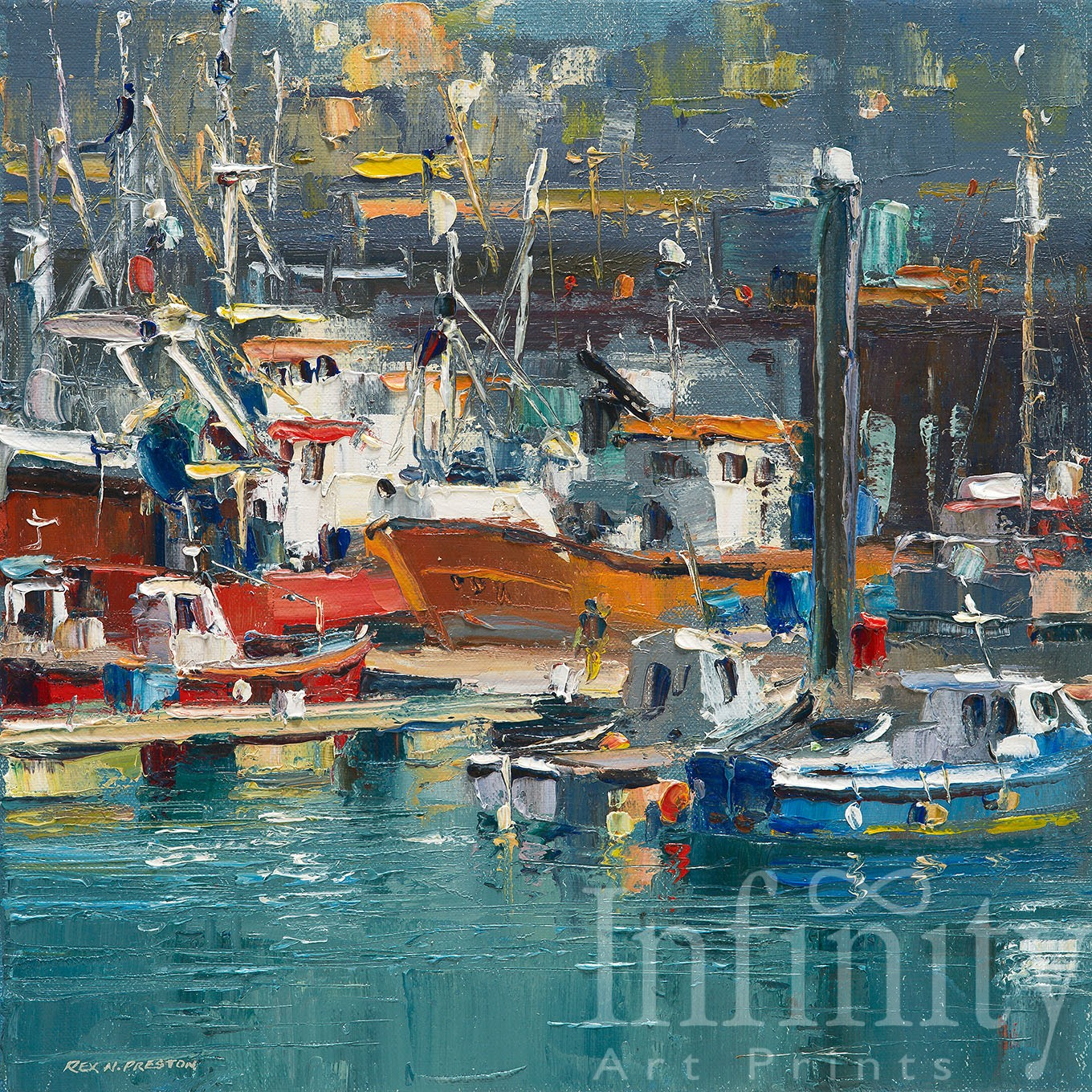 Sunny June Day, Newlyn Harbour